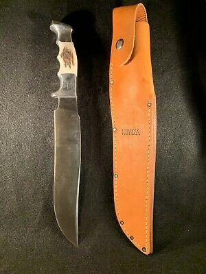"""Custom Finn Camper 9"""" RUANA Model 27AC Stag Handle Knife & Sheath"""