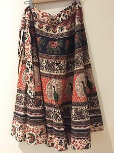 Authentic Thai Wrap Skirt with Elephant print