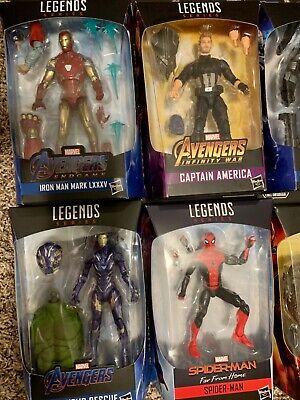 Marvel Legends Lot: Captain America, Iron Man, Spiderman...