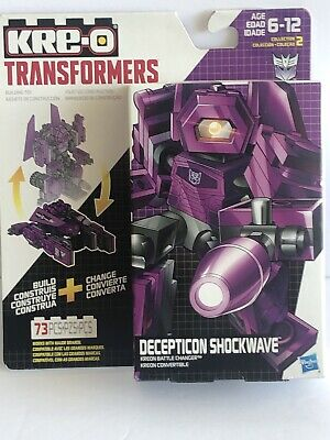 KRE-O Transformers Kreon Battle Changer 73 pc Decepticon Shockwave New Rare