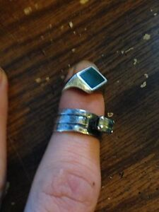 2 old sterling silver rings