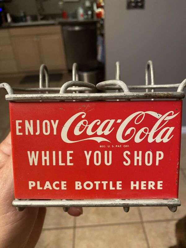 Vintage Coca Cola Shopping Cart Bottle Carrier-1950s