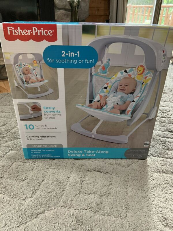 Fisher-Price  Deluxe Take Along Swing and Seat, Portable Baby Swing & Seat