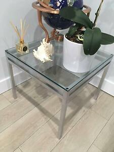 2 x Pair -- Glass & Metal Matching Side Tables -- Pickup 2216 Kyeemagh Rockdale Area Preview