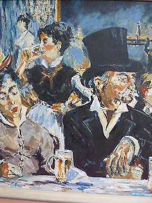 schönes,altes Gemälde__Gesellschaft__am Tresen___signiert : Glaubitz !