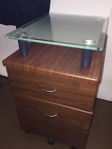 Portable 2 drawer filing cabinet