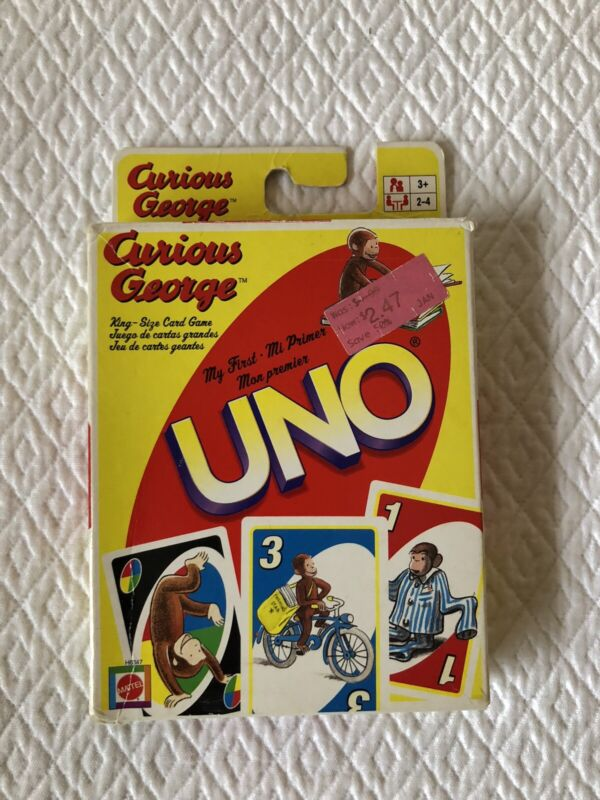 2005 Mattel CURIOUS GEORGE My First UNO Card Game...Complete