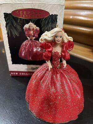 Hallmark 1993 Holiday Barbie Ornament Keepsake 1st in Series Original Box Mattel