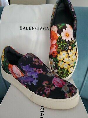 Balenciaga floral tennis shoes women 38 BRAND NEW w/box