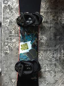 Men's snowboard Burton blunt 142cm with boots