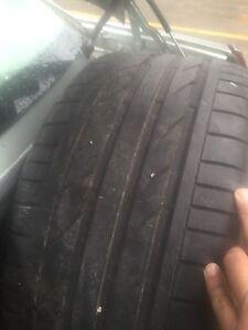 Pair of Bridgestone 255/35/R19