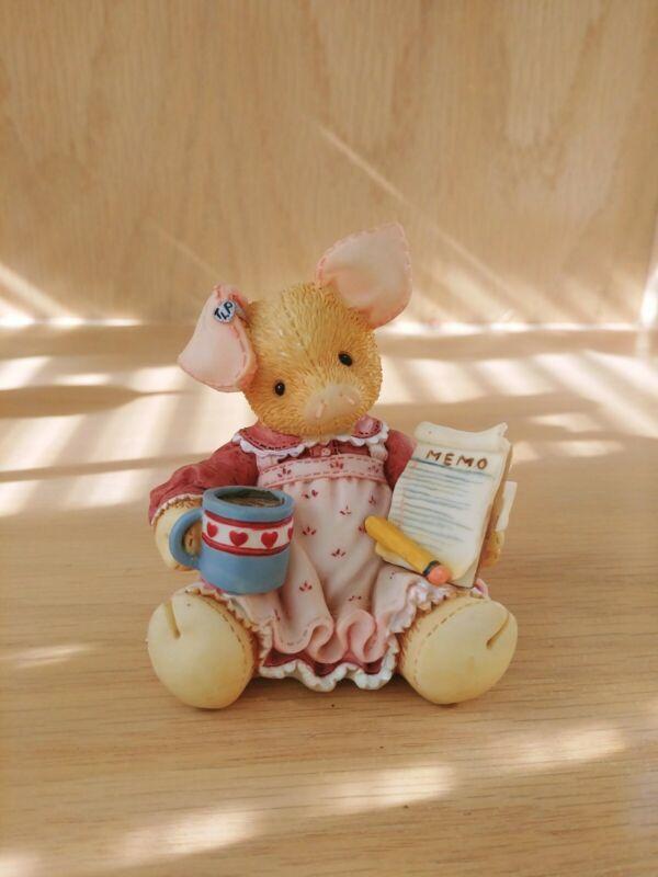 "This Little Piggy Figurine ""This Little Piggy Does It All"" Enesco 1995"