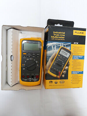 Fluke 87v True Rms Multimeter With Temperature New In The Box