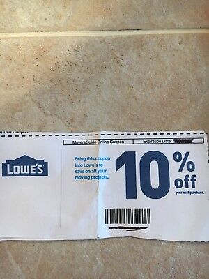 Lowes 10  Off Guaranteed   Exp 8 31 18 Can Be Emailed Immediately