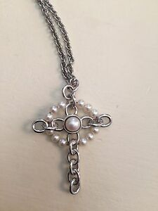 Authentic Birks Silver and Pearl Necklace