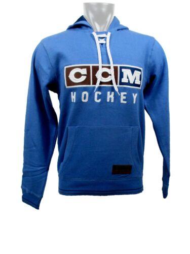 CCM Hockey CLASSIC LACE NECK Adult/Senior Hoody Sweatshirt-FEDERAL BLUE