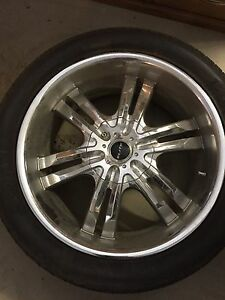 "22"" rims and tires for chev/gmc"