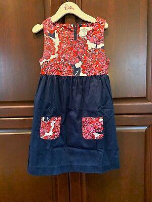 Girls Vineyard Vines Pink Red Navy Blue Floral Dress - Girls Vines
