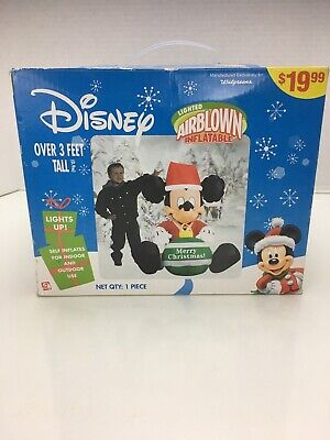 Gemmy Christmas Disney Airblown Inflatable Mickey Mouse With Ornament