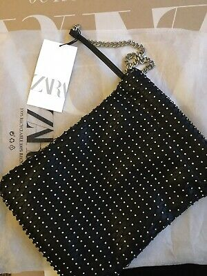 SOLD OUT! BNWT Zara Bucket Bag With Rhinestones for sale  Shipping to Ireland