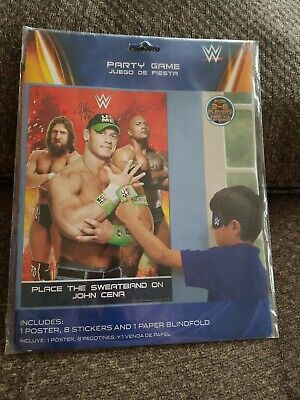 WWE Bash Party Game - Place Sweatband On John Cena -  Party Supplies Birthday - John Cena Party