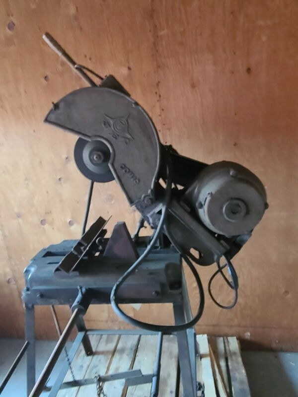 "Jet COM16 16"" Abrasive Cutoff Saw w/ Chain Clamping, Work Stop, Stand"