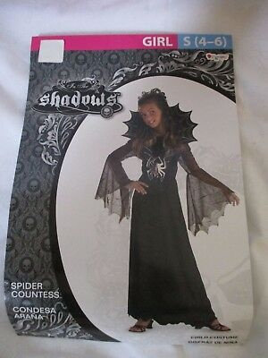 Spider Countess Child Halloween Costume (NEW Disguise Girls Halloween Costume Spider Countess Dress Child Size Small)