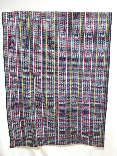 Guatemalan Handwoven Ikat Mayan Corte Fabric Loop Fabric Traditional Skirt