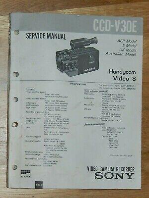 Sony Service Manual Ccd F375e Video Camera Recorder 1196