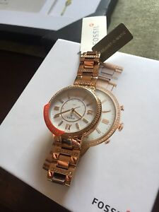 Womens rose gold fossil watch HYBRID