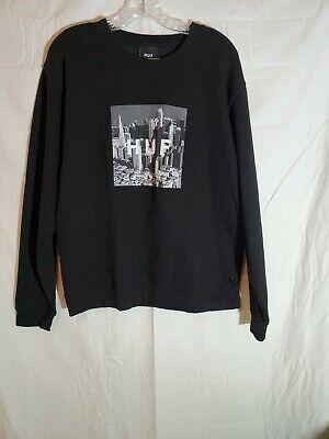 HUF Box Logo Skyline Sweatshirt Size Men's Medium