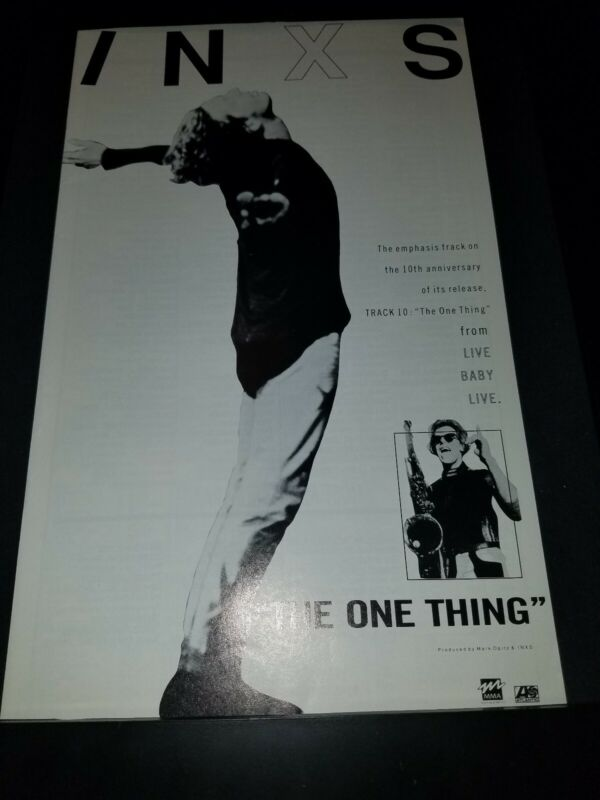 INXS The One Thing Rare Original Radio Promo Poster Ad Framed!