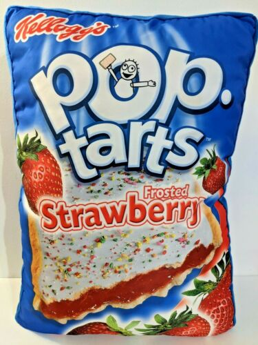 Pop Tarts Kelloggs Frosted Strawberry Pillow Plush HTF!