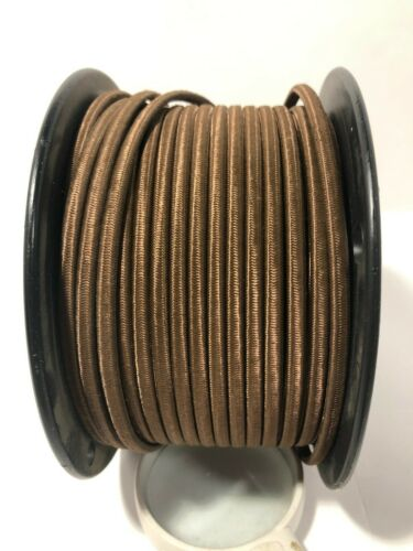 BROWN ~ 2 WIRE ~ Rayon Covered ~ Antique Vintage Style Cloth Lamp Cord