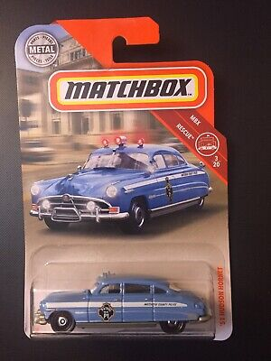 HOT 2019 MATCHBOX M CASE 1951 '51 HUDSON HORNET VHTF #57 NEW MB COUNTY POLICE