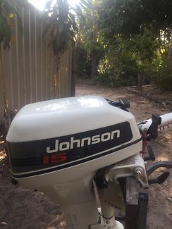 15hp Johnson 15hp outboard motor freshwater use