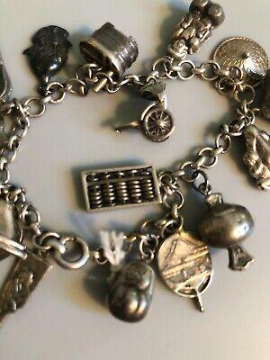 Unicorn With Las Vegas Tag Silver Vintage Charm For Bracelet
