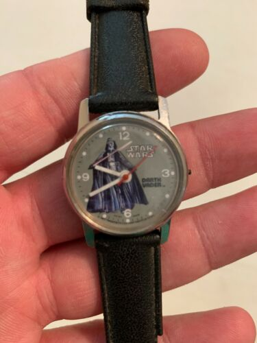 VINTAGE 1977 Bradley STAR WARS DARTH VADER Swiss Made Wrist Watch