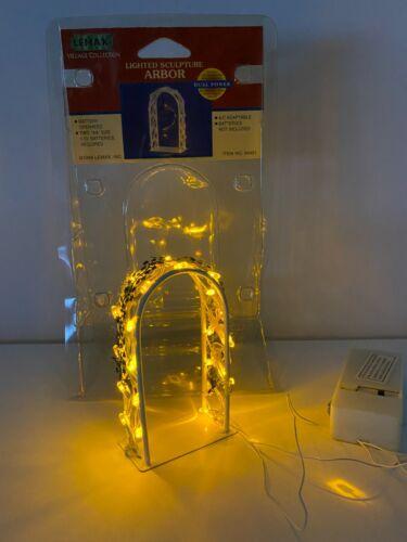 Lemax Christmas Village Lighted Sculpture Arbor #94401, 1999