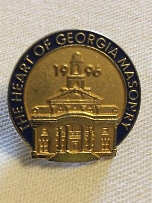 The Heart of Georgia Masonary - Masonic Lapel Pin - 1996 -