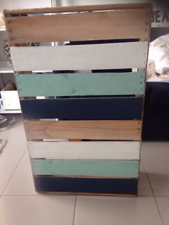 Shabby, coastal, large crate, 100cm X 50cm Miami Gold Coast South Preview