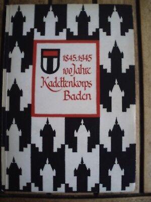 Das Kadettenkorps Baden in den ersten 100 Jahren seines Bestehens [1845-1945]