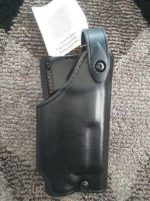Baretta 92   Left Black leather Small Of Back SOB holster Glock 19