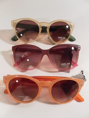 Set of 3 colorful SUNGLASSES squared hipster wacky cat eye wear glasses lot (Cat Wearing Sunglasses)