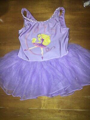 Disney Store Rapunzel Leotard Sz 10 Vguc Tangled Princess Dance Tutu Skirt 7 8