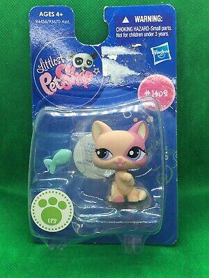 Littlest Pet Shop 1402 Cat Licking  Peach And Pink Short Hair Kitten In Package