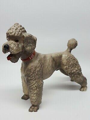 """Vintage Breyer Gray Standard Poodle Traditional Dog Plastic Figure 8""""T x 10""""L"""