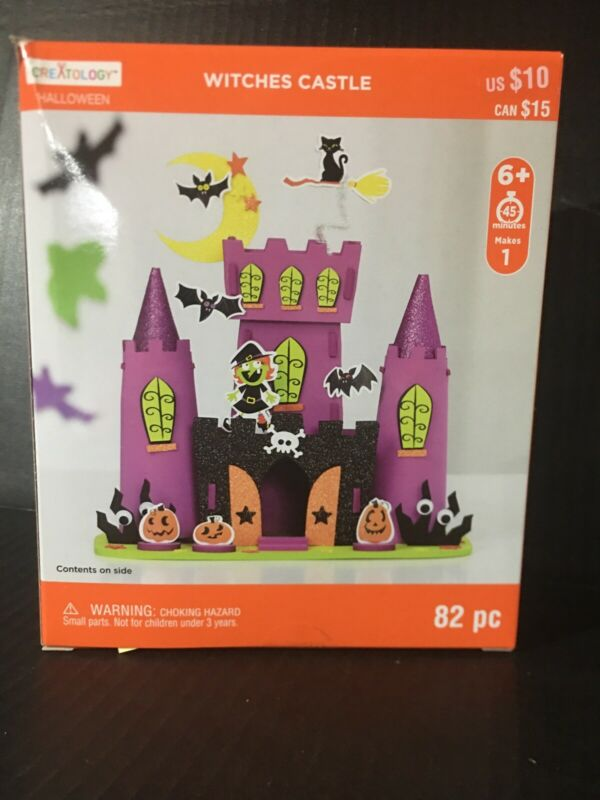 Halloween 3D Structure Witches Castle Creatology Foam Craft Ages 6+ New