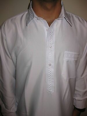 Thobe jubba Dishdasha  Thoub Muslim Islamic Men's Dress Abaya Daffah Kaftan 2 PC