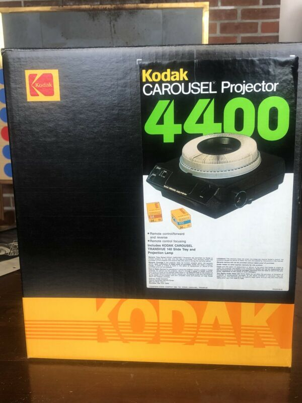 Vintage Kodak 4400 Carousel Slide Projector New Never Used In Box.